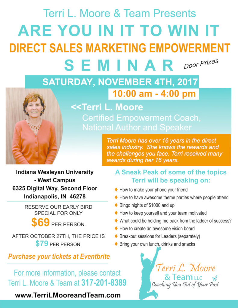 Are You in It to Win It Direct Sales Marketing Empowerment Seminar